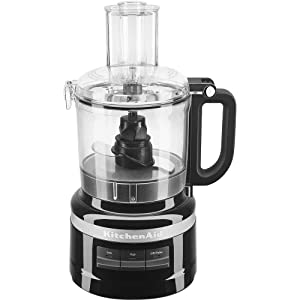 KitchenAid KFP0718OB 7-Cup Food Processor Chop, Puree, Shred and Slice - Onyx Black
