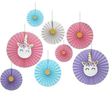 Amazon.com: Juego de 8 rosetas decorativas de papel con ...