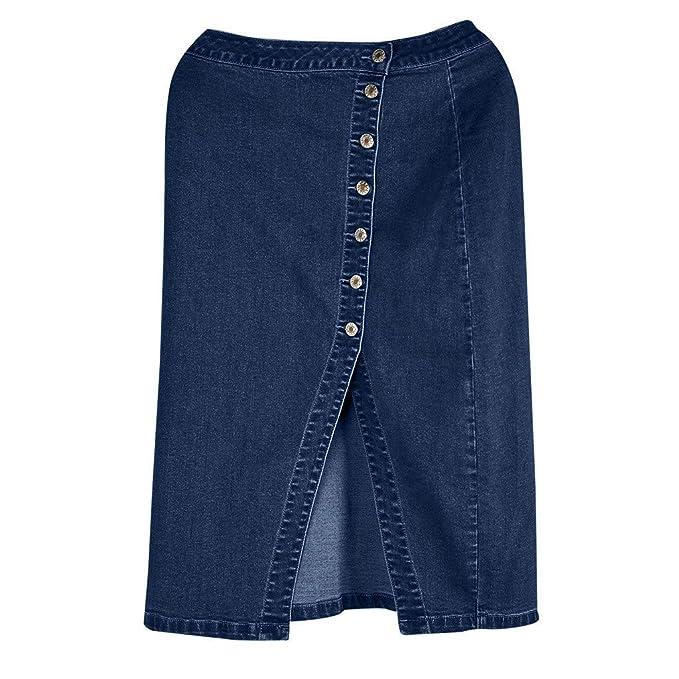 Amazon.com: HENWERD - Falda para mujer de cintura alta ...