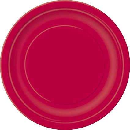 Red Paper Cake Plates 20ct  sc 1 st  Amazon.com & Amazon.com: Red Paper Cake Plates 20ct: Kitchen u0026 Dining