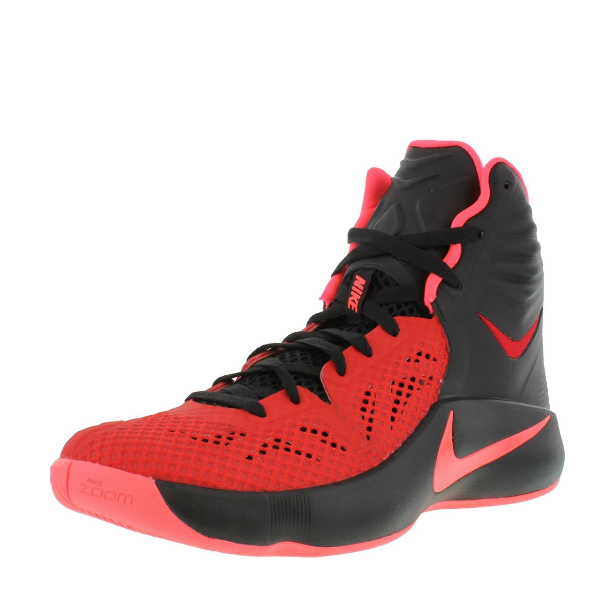 the best attitude e3f7b 6f039 nike zoom hyperfuse 2014 mens hi top basketball trainers 684591 sneakers  shoes (uk 7.5 us 8.5 eu 42, black hyper punch university red 066)   Amazon.co.uk  ...