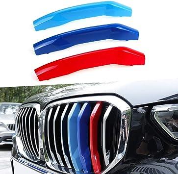 Tuqiang 3 Farben 3d Motorsport Frontgrill Zierleisten Grill Cover Dekoration Aufkleber Für X5 G05 2019 7 Gitter Auto
