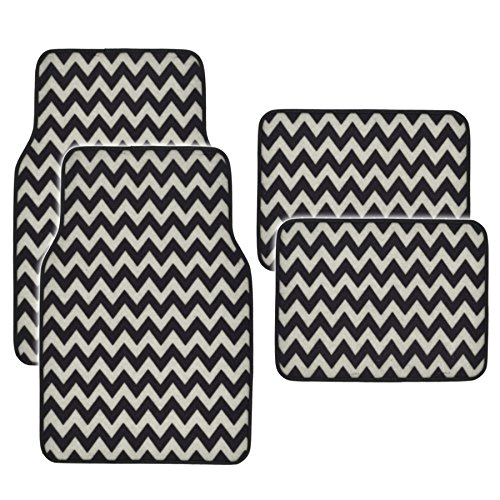 white and black car floor mats - 9