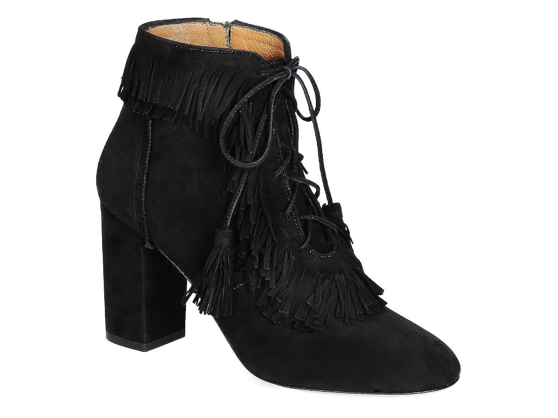 Aquazzura Botines de Tacón Alto EN Piel de Gamuza Negra - Número de Modelo: VEPMIDB0 Sue 000: Amazon.es: Zapatos y complementos