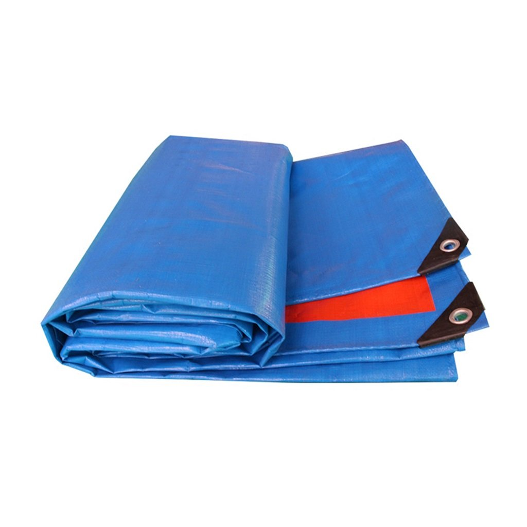 Lonas Lona Impermeable Paño protector solar Toldo ultraligero Carro de tres ruedas Toldo Toldo Toldo Tela Paño Envío personalizado, Naranja + Azul, ...