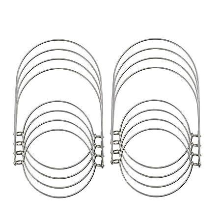 8 PCS Wire Handles For Mason Solar Light Mason Jar Hanger Hanging Hook Handle UK