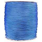 PARACORD PLANET 1.8 MM Dyneema Speed Lace - 10 Feet - Blue & White Color - Unbreakable and Lightweight Fiber