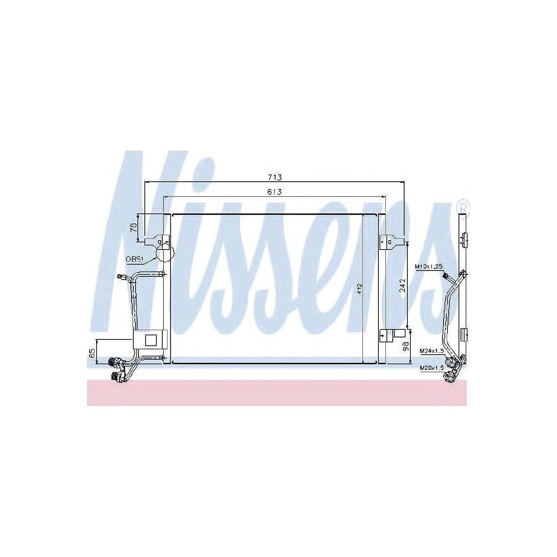 Nissens 94593 Condenser, air conditioning