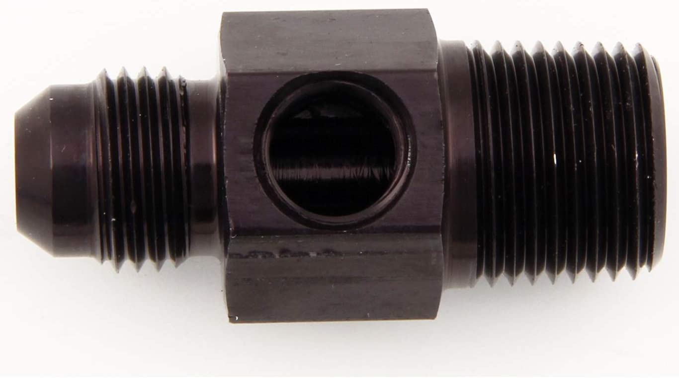 Y Adapter Fitting 6AN Male Flare Fuel Pump Hose Pipe Connector Y-Block Union 3-way 6 AN Coupler Aluminum Black Anodized
