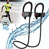 Running Headphones 4.1 Wireless Noise Cancelling Earbuds Sweatproof for Gym Workout Exercise with Mic Gohitop (Black) (GT980)