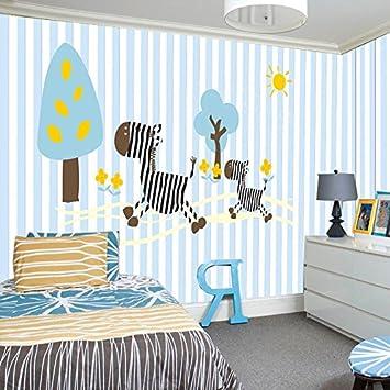 Hhcyy 3d Cartoon Tier Von Zebra Streifen Kinderzimmer Tapete