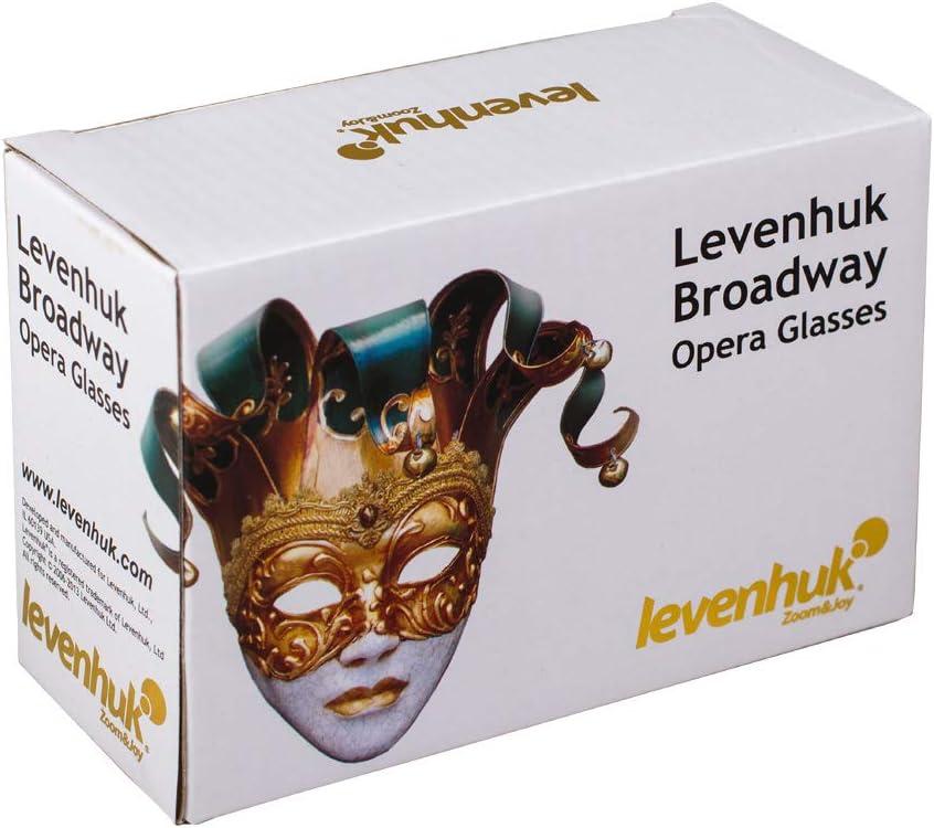 Levenhuk anteojo Broadway 3x25 blanco con lorgnette y luz LED