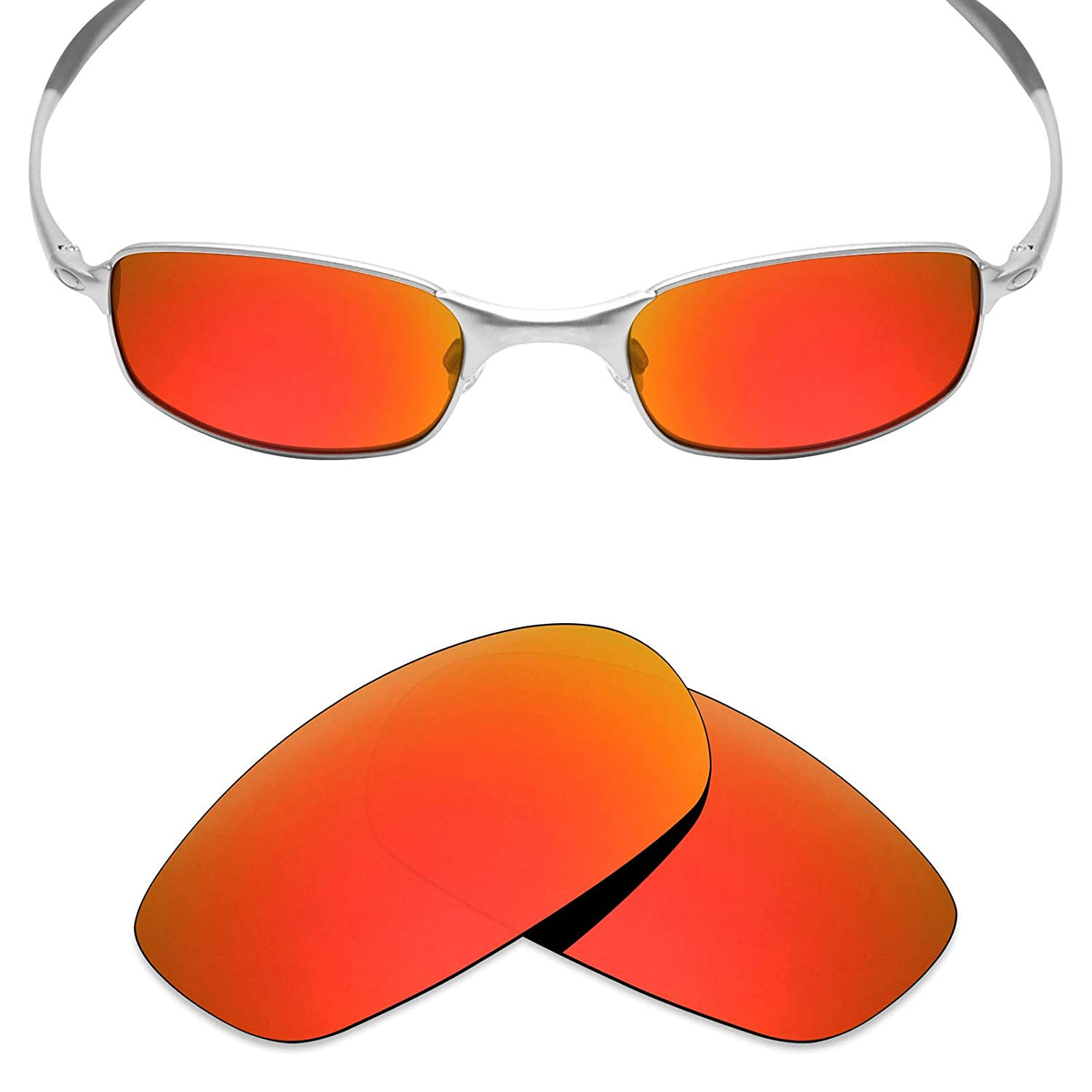 63c7889435 Amazon.com  Mryok Polarized Replacement Lenses for Oakley Square Wire 2.0 -  Fire Red  Clothing