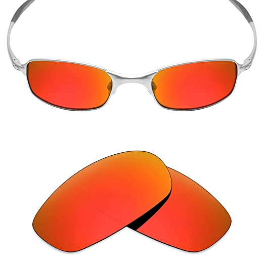 afadac12da Mryok Polarized Replacement Lenses for Oakley Square Wire 2.0 - Fire Red