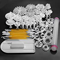 New 46pcs Sugarcraft Cake Decorating Fondant Icing Plunger Cutters Tools Mold