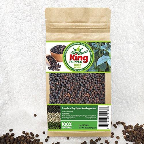 GranjaFarm King Pepper Black Peppercorns 8 oz