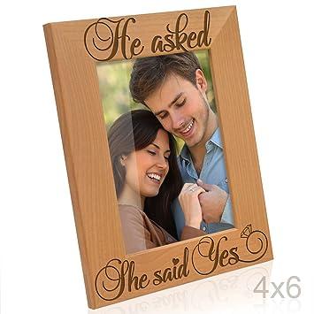 Amazoncom Kate Posh He Asked She Said Yes Engraved Natural