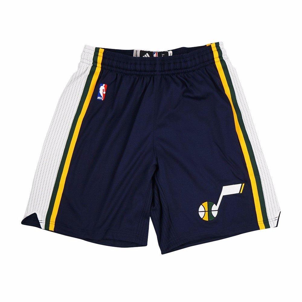 ユタジャズNBA Adidas Navy Blue Authentic on-court Road Away Climalite Game Shortsメンズの B075NWDMC3   2XLT