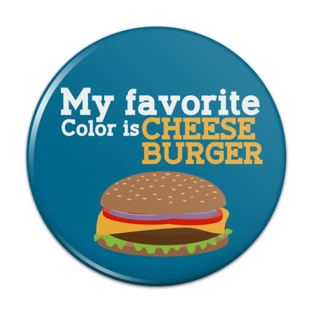 My Favorite Color is Cheeseburger Compact Pocket Purse Hand Cosmetic Makeup Mirror - 3 Diameter Graphics and More