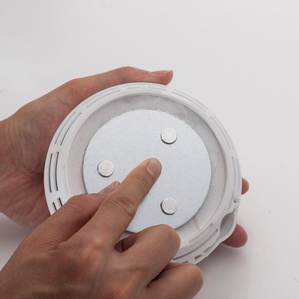 Hmtool Magnetbefestigung Rauchmelder,Magnet Befestigung f/ür Rauchwarnmelder,Drei Magneten Sorgen Daf/ür,Dass Gro/ße Saug und 10 Jahre Lebenszeit Gleich wie Rauchsensoren 5Stk