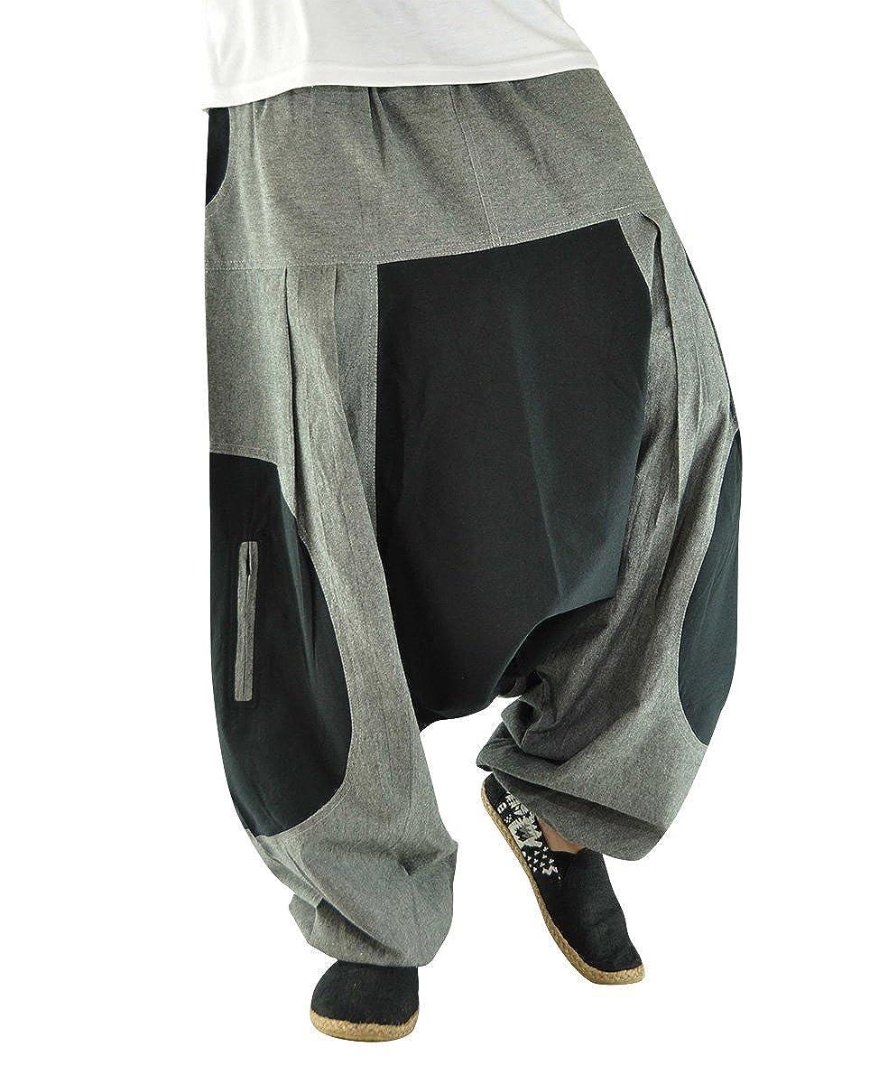 virblatt pantalones cagados de alta calidad corte suelto para hombres y mujeres como ropa hippie y pantalones bombachos estilo harem M - XL – Elemente