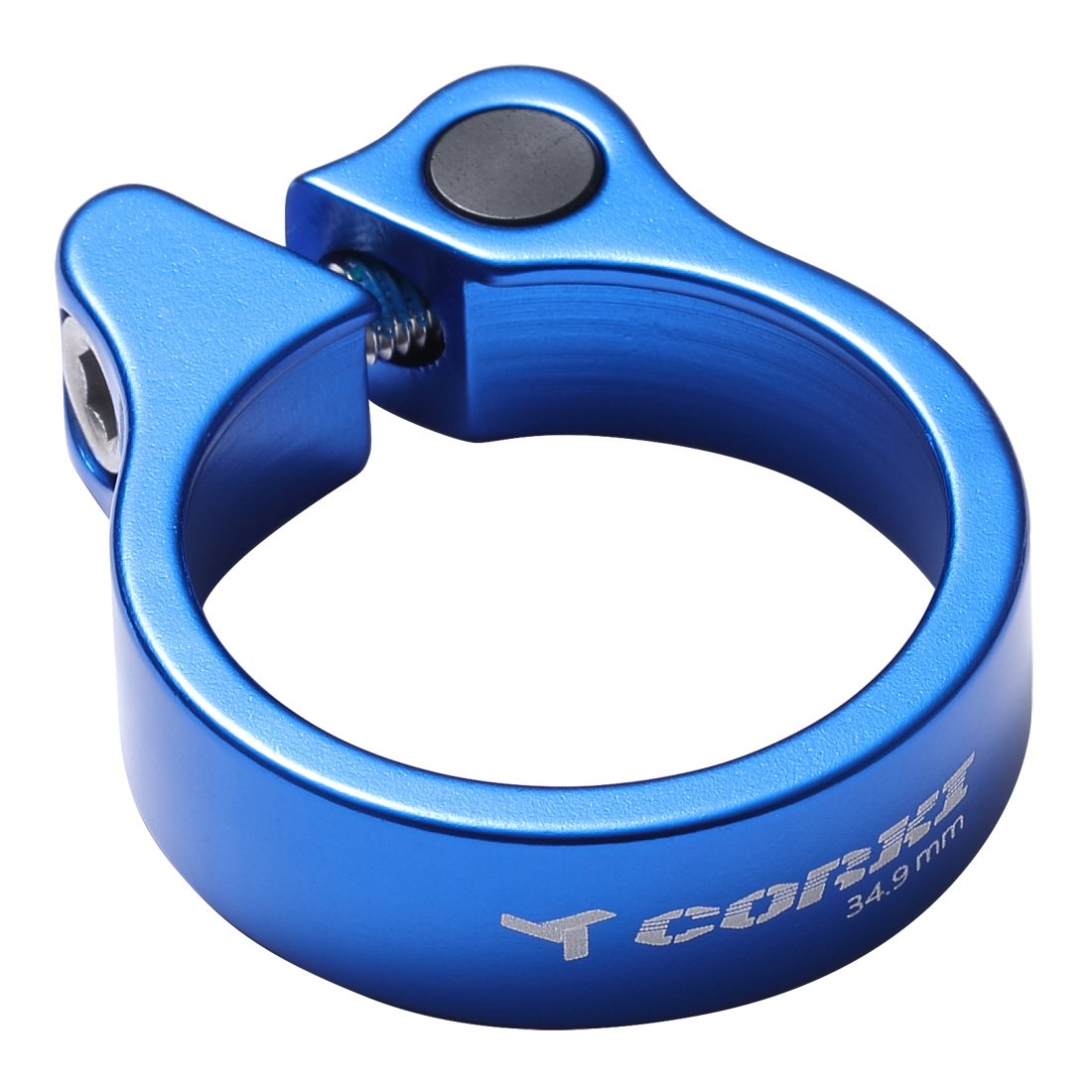 Corki Bicicleta Tija de Sill/ín Abrazadera Superficie Anodizada con Pulido a Chorro de Arena31.8mm//34.9mm Negro//Rojo//Azul