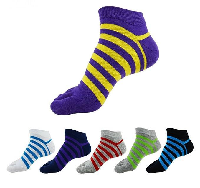 Five 6 pares calcetines japoneses y pantalla a juego para corte bajo algodón para hombre Athletic diseño a rayas: Amazon.es: Ropa y accesorios