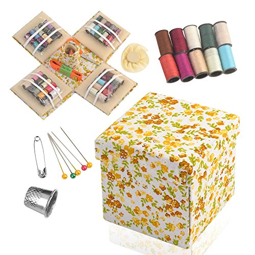 eZthings® Designer Storage Box Variety Set With Thread Supplies for Arts and Crafts (Sewing Basket Kit)