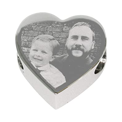 Memorial Gift Personalised Holographic Engraved Heart Charm Funeral Memory Of Everything Else