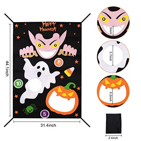 Outstanding M Peng Halloween Ghost Pumpkin Bean Bag Toss Games With 3 Onthecornerstone Fun Painted Chair Ideas Images Onthecornerstoneorg