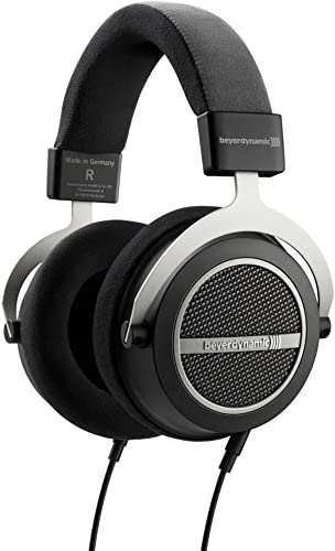 beyerdynamic Amiron Home Tesla High-End Audiophile Stereo Headphones 250 OHM 717525 with Full Size Headphone Case, Headphone Stand Microfiber Cleaning Cloth