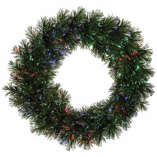 Vickerman Pre Lit Fiber Optic Artificial Pine Christmas
