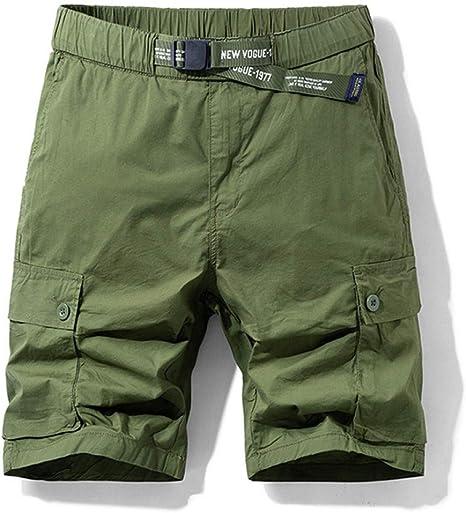 NGRDX&G Bermuda Pantalones Cortos De Carga con Múltiples Bolsillos ...