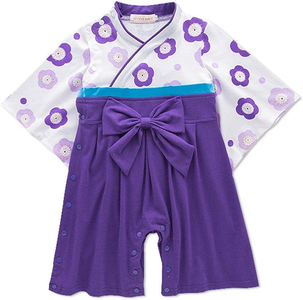 SAMGU Baby Toddler Girls Coverall Sakura Kimono Robe Pagliaccetti Tuta Tuta