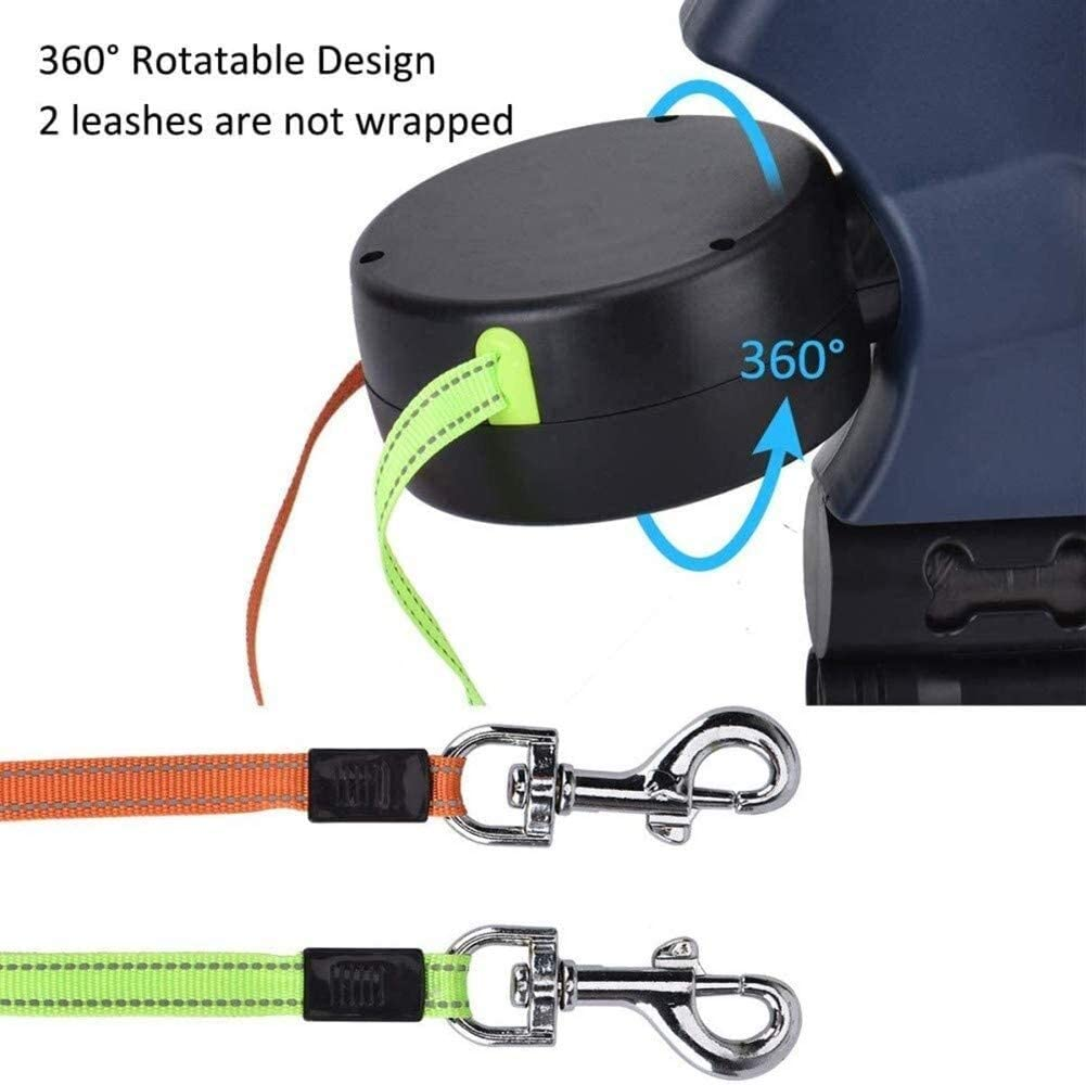 Nylon up to 35kg each,3M 360 /° Rotatable Extendable Roll Leash 3M Flexible With Flashlight Dog Lead Double Retractable Non-Slip Handle One-Hand Brake ABS Garbage Bag Dispenser