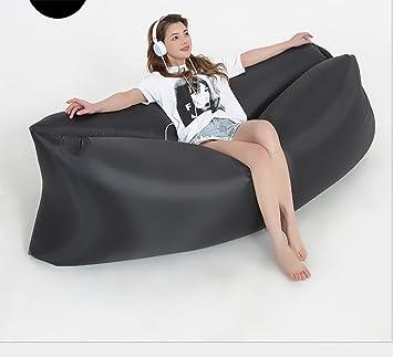 Tumbona inflable rápida - Tumbona portátil para interiores y ...