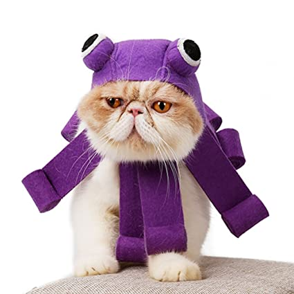 Petacc Pet Halloween Hat Adjustable Cat Party Costume Adorable Pet Cosplay Headwear Lightweight Cat Costume Hat