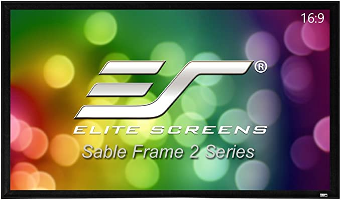 Elite Screens Sable Frame 2 Series 120 Inch Diagonal 16 9 Active 3d 4k Ultra Hd Ready Fixed Frame Home Theater Projection Projector Screen Er120wh2 Home Audio Theater