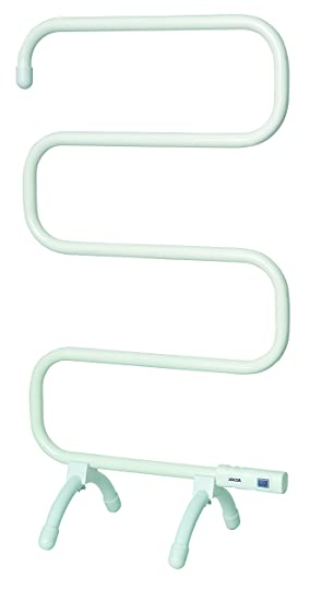 Jocca 2840 - Calefactor de toallas con kit de montaje a pared, color blanco: Amazon.es: Hogar