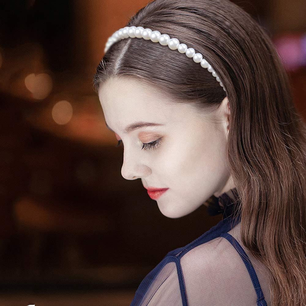 accesorio para el pelo de boda 6 diademas de perlas de imitaci/ón blancas para novia Hysagtek adorno para mujeres y ni/ñas