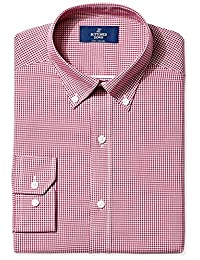 Buttoned Down Men's Non-Iron Fitted Button Collar Dress Shirt