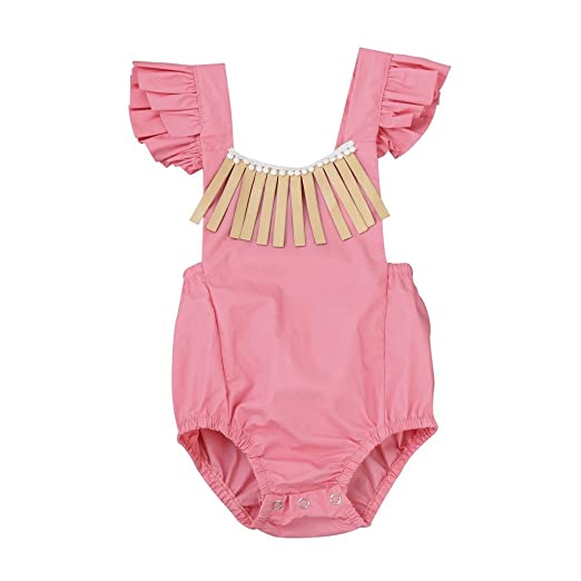 a57ac96a3 Amazon.com  Toddler Infant Romper Jumpsuit Summer Newborn Baby Girls ...