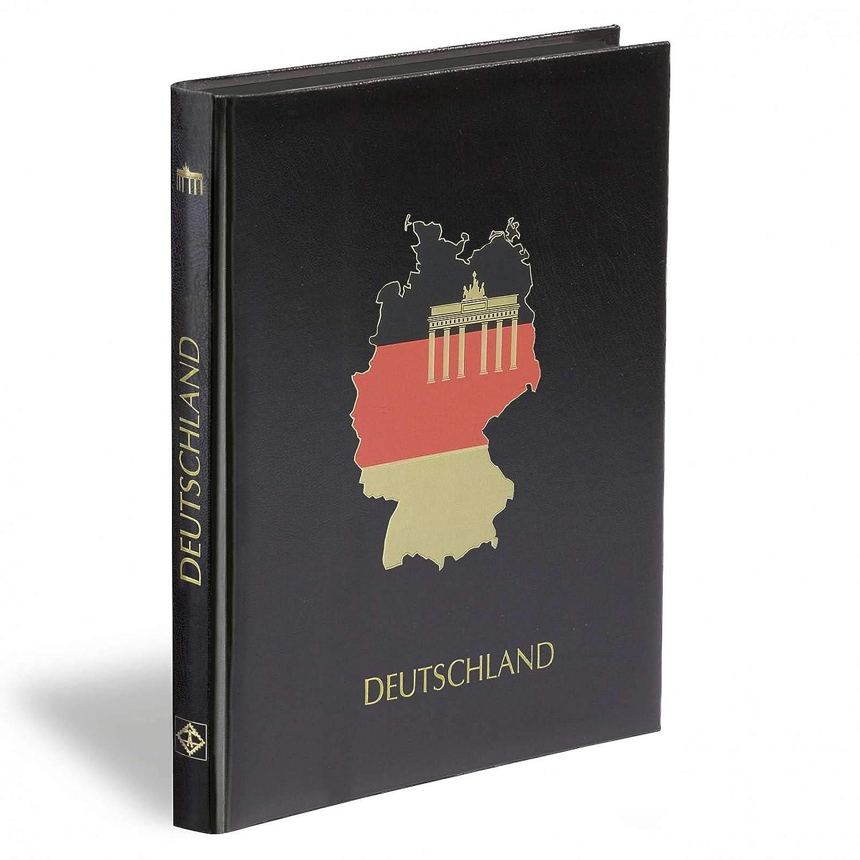 Einsteckbuch GERMANY DIN A4, 32 black pages, unwattiert cover, black Leuchtturm