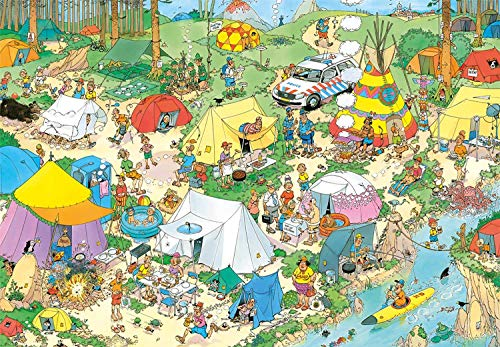 Jan van Haasteren 19087, Camping in The Forest, 2000 Piece Jigsaw Puzzle
