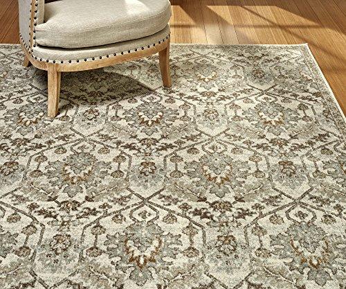 Gertmenian 21389 Oriental Rug V Persian Area Carpet 8x10 Large Ivory Beige Medallion