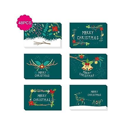 WRHN Sobres Navidad Tarjetas de felicitación, Tarjeta de ...
