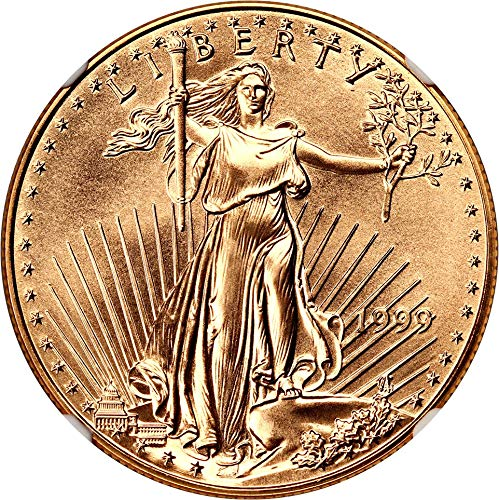 1999 P $50 Gold Eagles Gold Eagle Fifty Dollar MS70 NGC