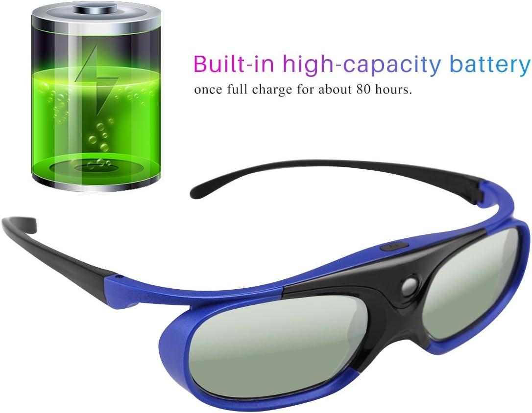 Anteojos 3D, obturador activo DLP universal, anteojos 3D 96-144Hz ...