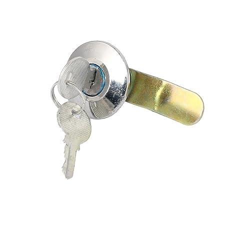 sourcingmap Buzón de cajón de metal de culata tubular de seguridad cerradura de la leva 21