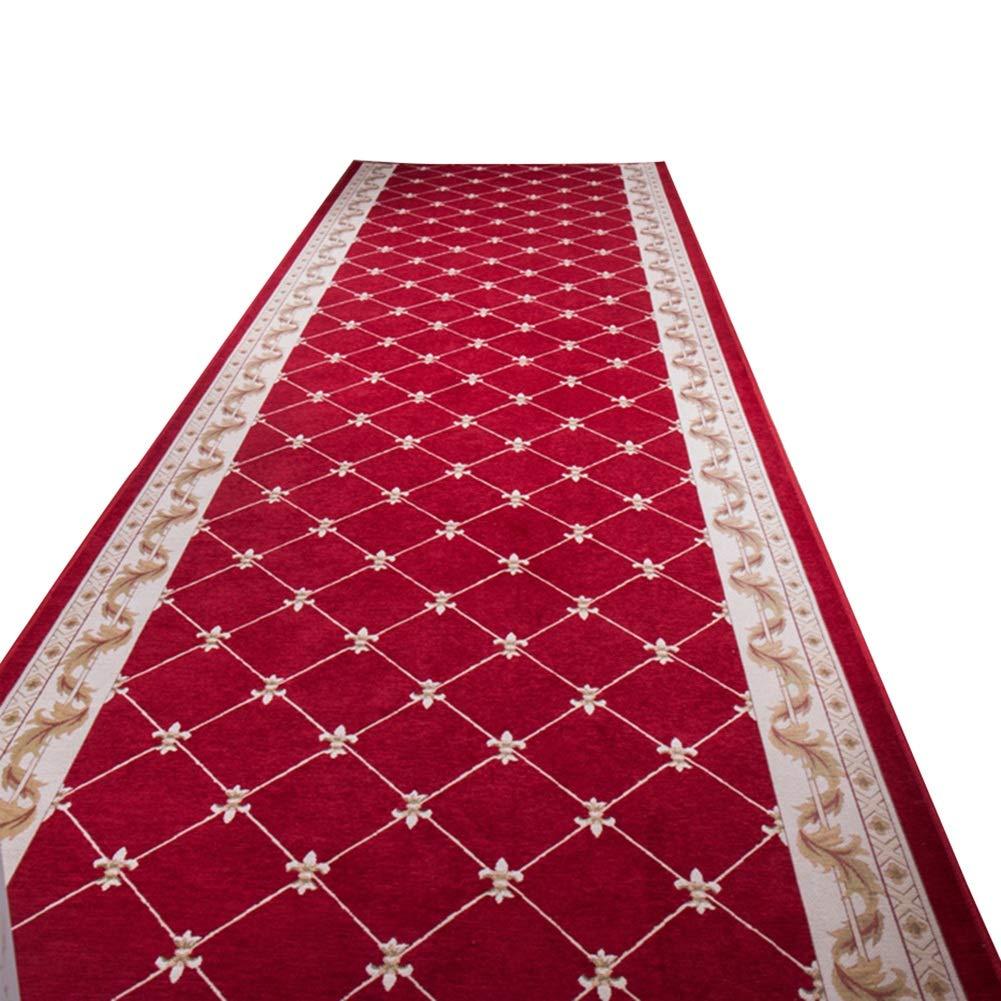 HAIPENG 廊下のカーペット 滑り止め 廊下 エントリ 敷物 ランナー 移行期 コレクション エリアラグ 赤 にとって キッチン そして 入り口 カスタマイズされた (色 : A, サイズ さいず : 1.5x4m) 1.5x4m A B07NWLWQCN